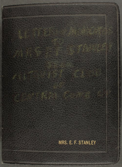 Letters to Mrs. E. F. Stanley - Page