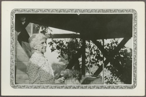 Hattie Parkerson at the Isaac Goodnow residence, Manhattan, Kansas - Page