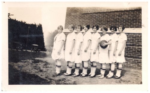Dunlap High School girl's basketball team in Dunlap, Kansas - Page