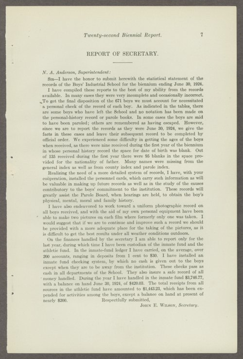 Biennial report of the Boys Industrial School, 1924 - Page