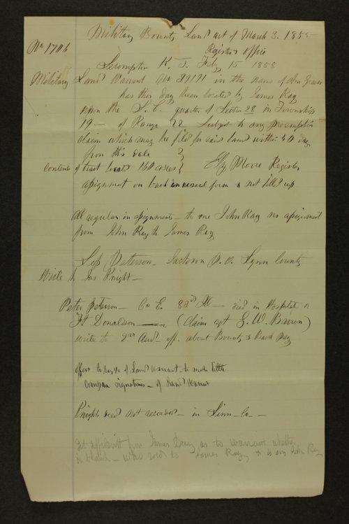 James Barnes Whitaker correspondence - Page
