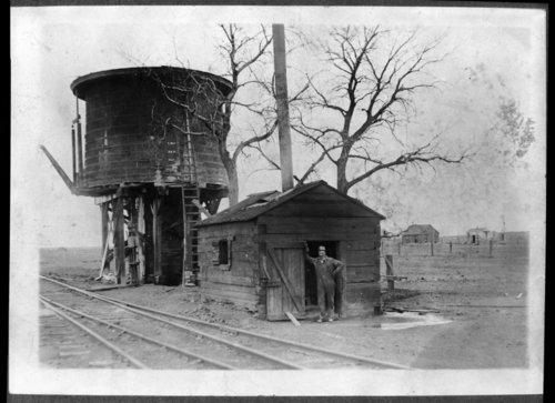 Missouri Pacific Railroad water tower, Horace, Kansas. - Page
