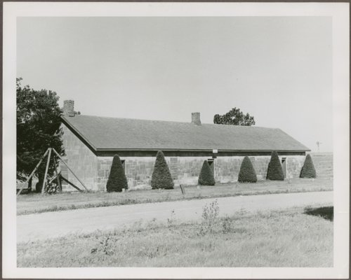 View of the guardhouse at Fort Hays, Kansas - Page