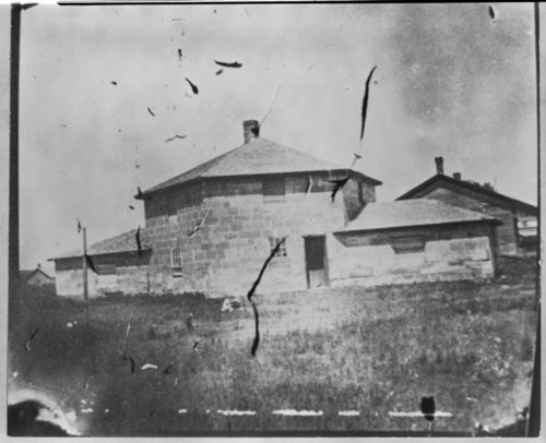 Exterior views of the blockhouse at Fort Hays, Kansas - Page
