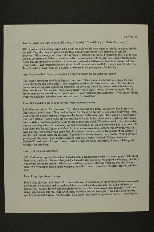 Billy Olsen interview, Kinsley, Kansas - Page