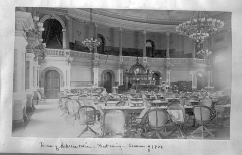 Interior of the House of Representatives in the Kansas capitol, Topeka, Kansas - Page