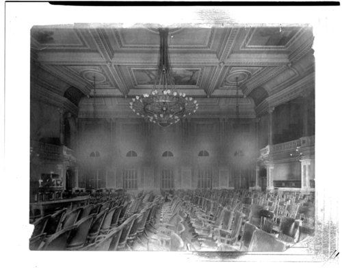 Interior view of the House of Representatives in the Kansas capitol - Page