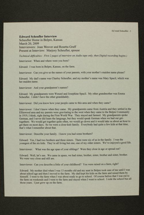 Edward Scheufler interview, WWII oral history, Belpre, Kansas - Page