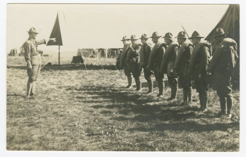 Soldiers being inspected at Camp Funston, Kansas - Page