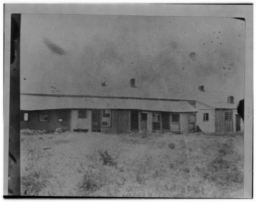 Views of Fort Hays buildings before restoration - Page