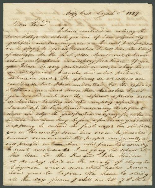 J. W. McClung to Lewis Allen Alderson - Page