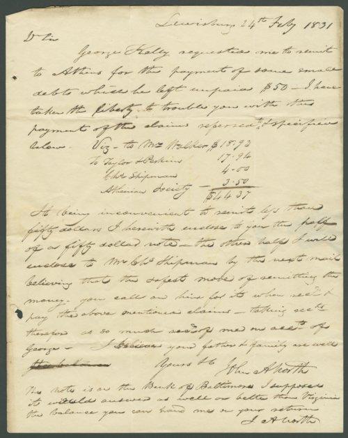 John Abney North to Lewis Allen Alderson - Page