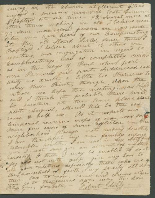 Robert Lilly to Lewis Allen Alderson - Page