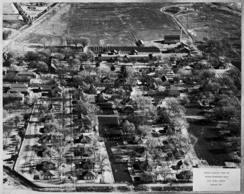 Aerial view of the Kansas Soldiers' Home, Dodge City, Kansas - Page