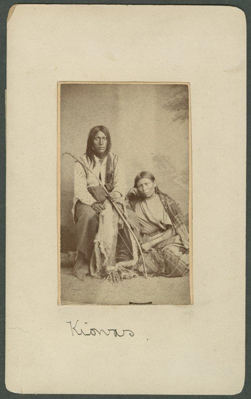 Kiowa man and woman in Indian Territory - Page