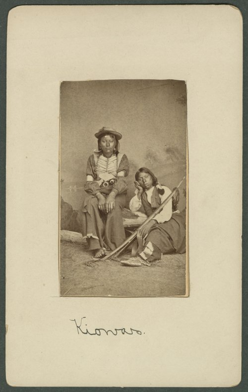 Two Kiowa boys in Indian Territory - Page