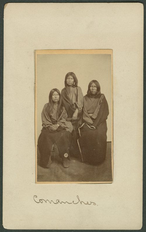 Three Comanche women in Indian Territory - Page