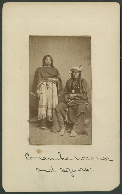 Comanche man and woman in Indian Territory - Page