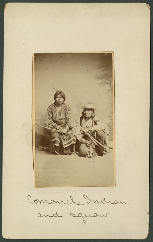 Two Comanche men in Indian Territory - Page