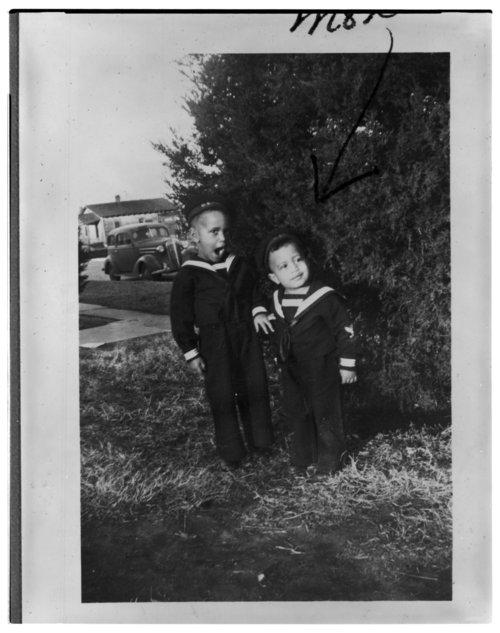 Members of the Balton family dressed as sailors in Wichita, Kansas - Page