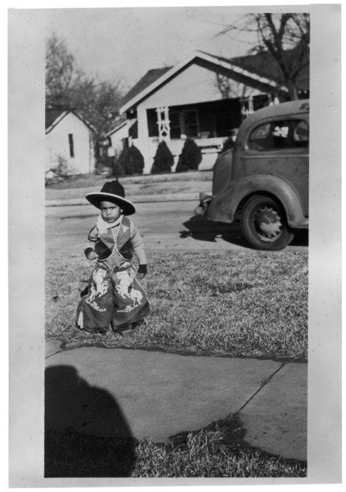 Michael Balton dressed as a cowboy in Wichita, Kansas - Page