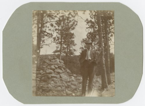 George Allison at Helen Hunt's grave near Canyon City, Colorado - Page