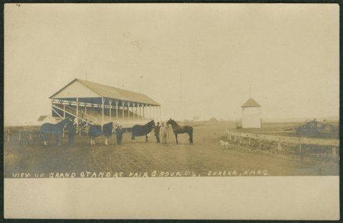 View of the grandstand at the fairgrounds in Eureka, Kansas - Page