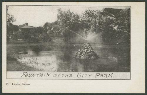 Fountain at City Park in Eureka, Kansas - Page