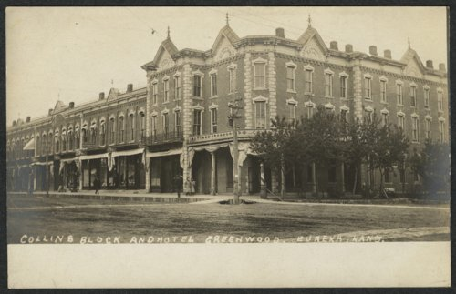 Collins Block and Hotel Greenwood in Eureka, Kansas - Page