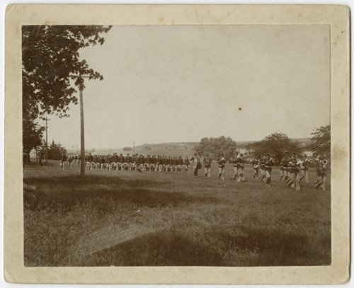 Cadets drilling at Kansas State Agricultural College in Manhattan, Kansas - Page