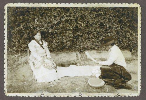Rosan Potts Ke-o-ko-mo-quah and Wallace Stem-son on the Potawatomi Reservation near Mayetta, Kansas - Page