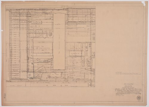 Location plan for Atchison, Topeka & Santa Fe Railway's diesel lube & fuel oil facilities & tender fuel oil drain facilities in San Bernardino, California - Page