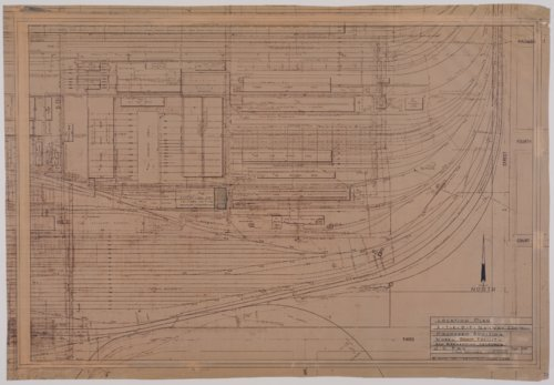Drawing of Atchison, Topeka & Santa Fe Railway's proposed addition to the wheel shop facility in San Bernardino, California - Page