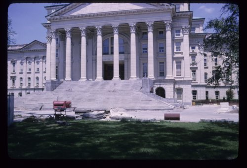 Step repair at the Kansas capitol in Topeka, Kansas - Page