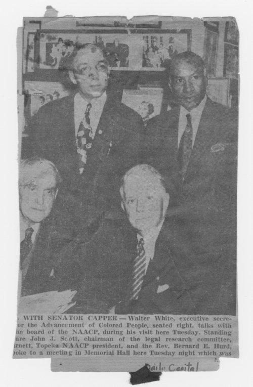Walter White, Reverend E. Bernard Hurd, McKinley Burnett, and Arthur Capper - Page
