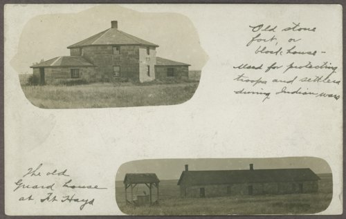Blockhouse and guardhouse at Fort Hays, Kansas - Page