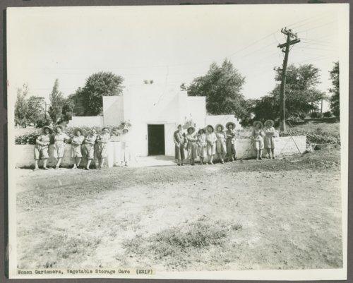 Women gardeners at the Kansas Women's Industrial Farm, Lansing, Kansas - Page