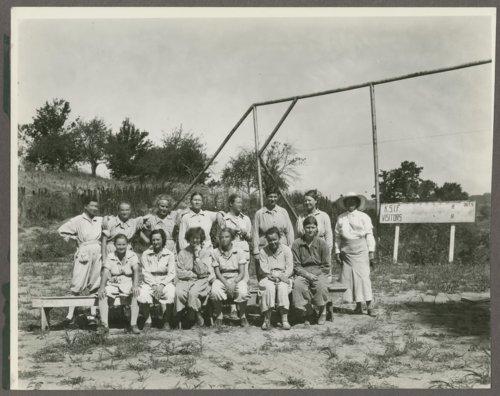 Baseball team at the Kansas Women's Industrial Farm, Lansing, Kansas - Page