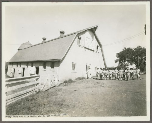 Milk maids at the Kansas Women's Industrial Farm, Lansing, Kansas - Page