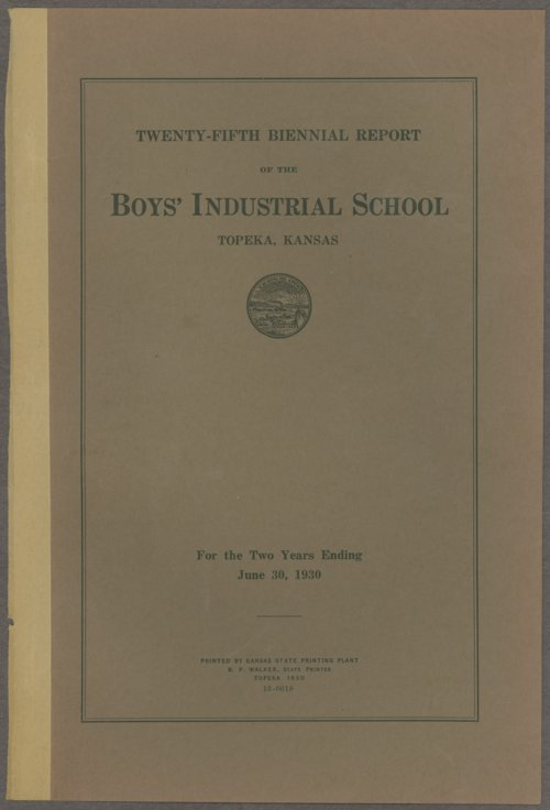 Biennial report of the Boys Industrial School, 1930 - Page