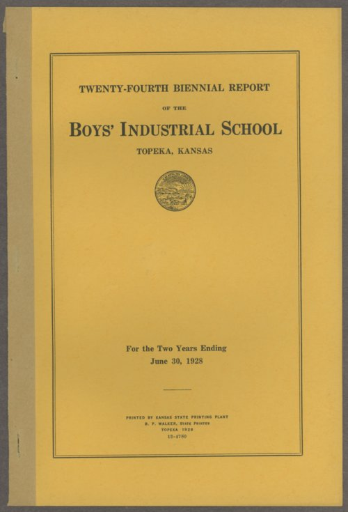 Biennial report of the Boys Industrial School, 1928 - Page