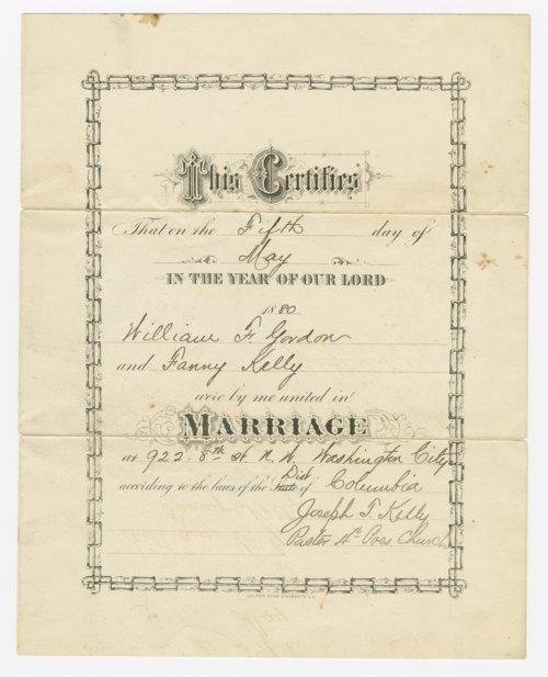 kansas marriage certificate gordon historical society
