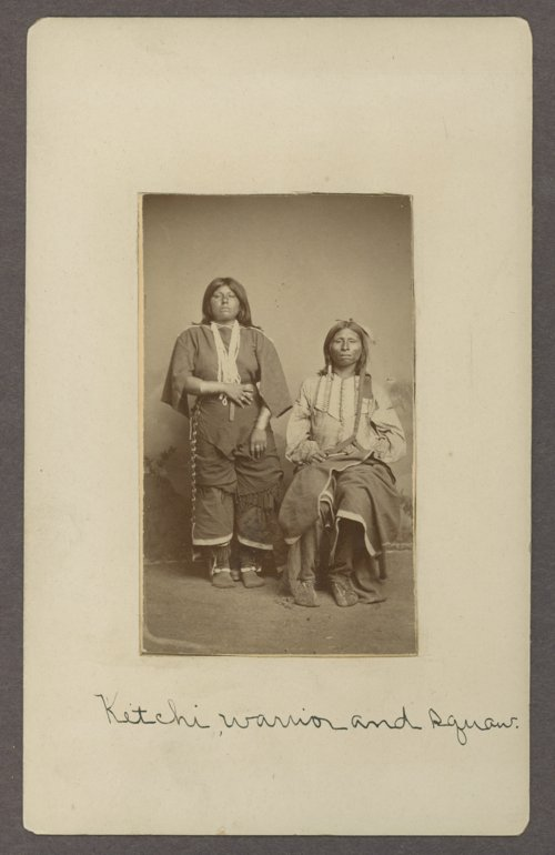 Kichai man and woman in Indian Territory - Page