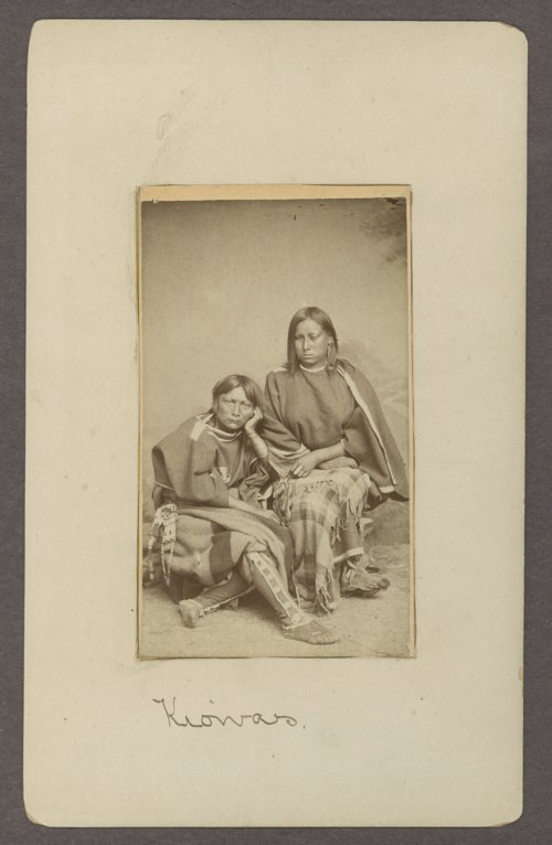 Two Kiowa women in Indian Territory - Page