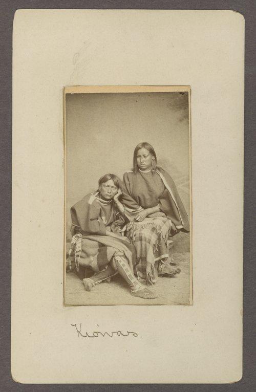 Two Kiowa women in Indian Territory - Page