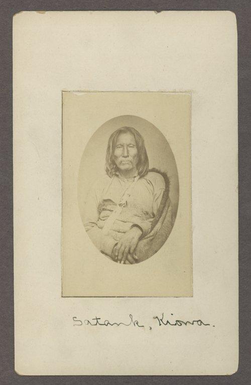 Satank, Kiowa chief, in Indian Territory - Page