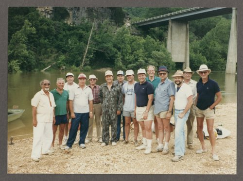 Members of the Kansas legislature, businessmen, and Governor Mike Hayden on a float trip on the Buffalo River - Page