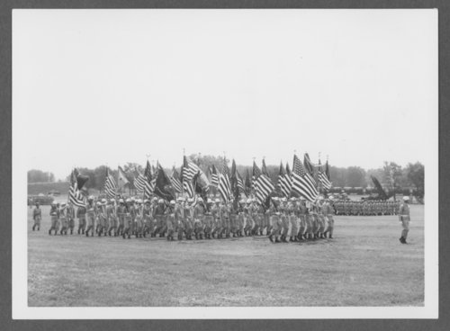 First Infantry Division passing in review at Fort Riley, Kansas - Page
