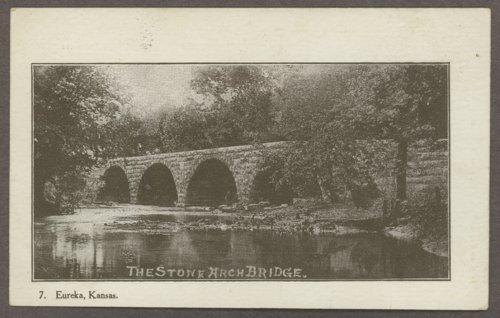 Stone arch bridge in Eureka, Kansas - Page