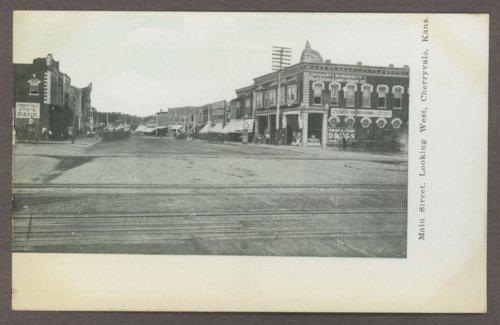 Main street looking west in Cherryvale, Kansas - Page